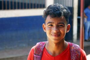 Jose Angel de la escuela Nueva Esperanza